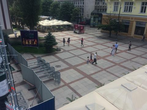 """""""Theatre in front of the theatre"""" @ Sofia"""